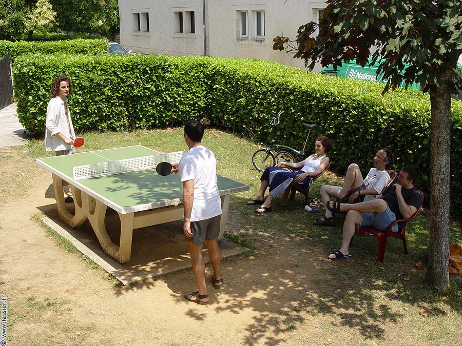 ping pong Institut Clair Foyer festival Prayssac